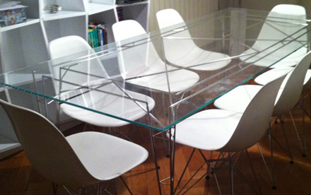 design inox table meuble